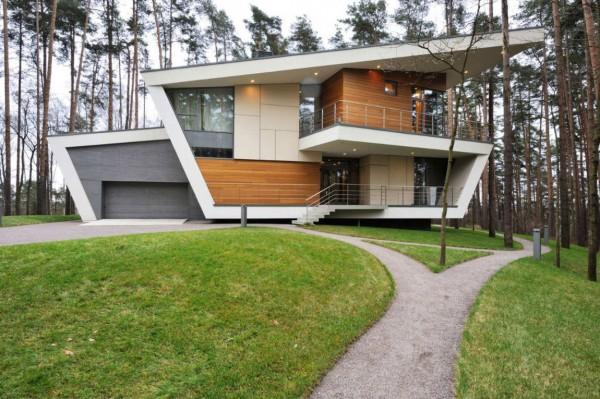 красивый современный дом